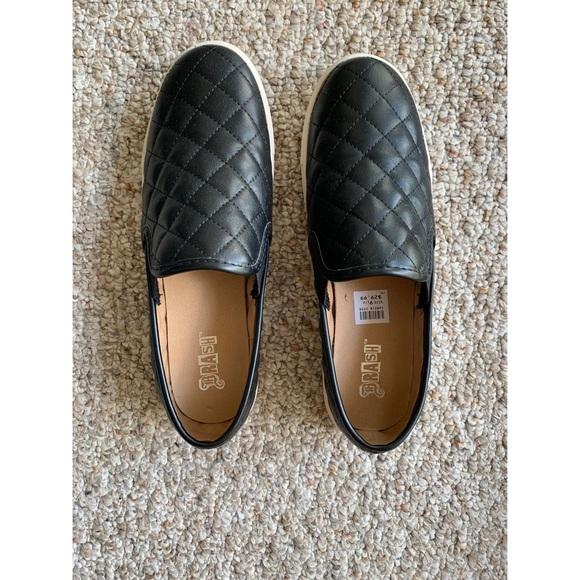 Black Quilted Slipon Shoes   Poshmark